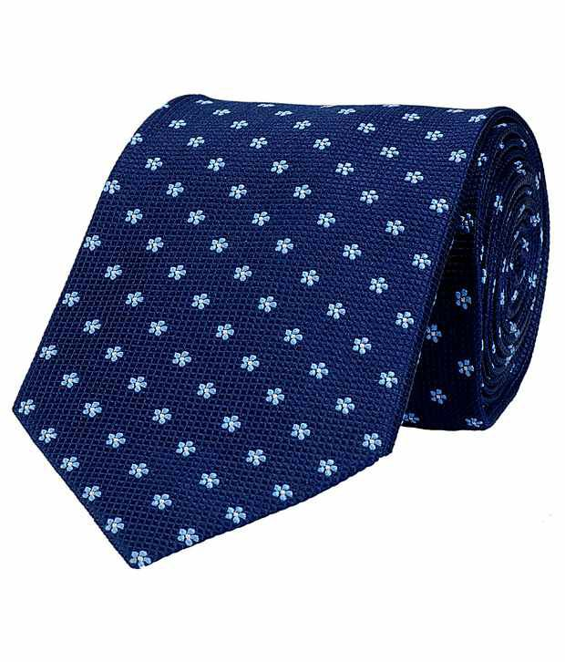 Tiekart Navy Silk Formal Broad Ties ( 1Pc)