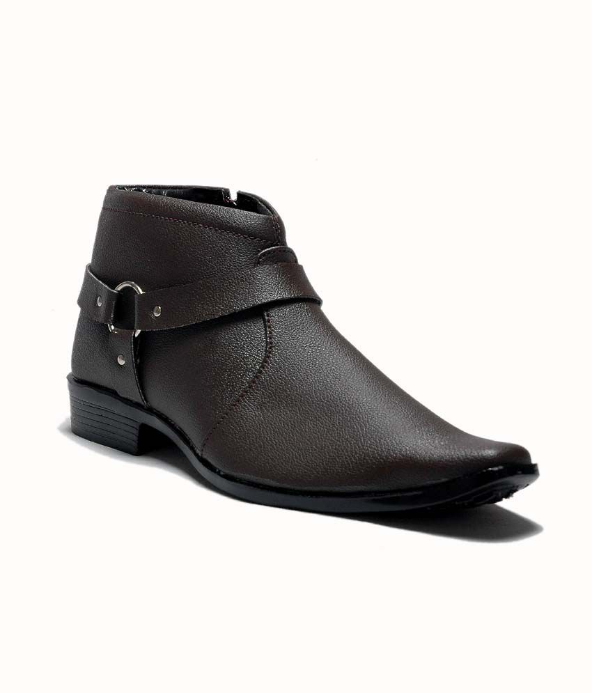hot products lowest price sleek AT Classic Brown Formal Shoes