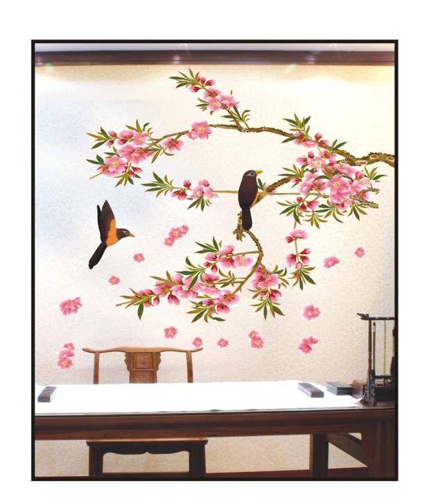 PINDIA Multicolour 3D Tree Art Design Wall Sticker Buy PINDIA