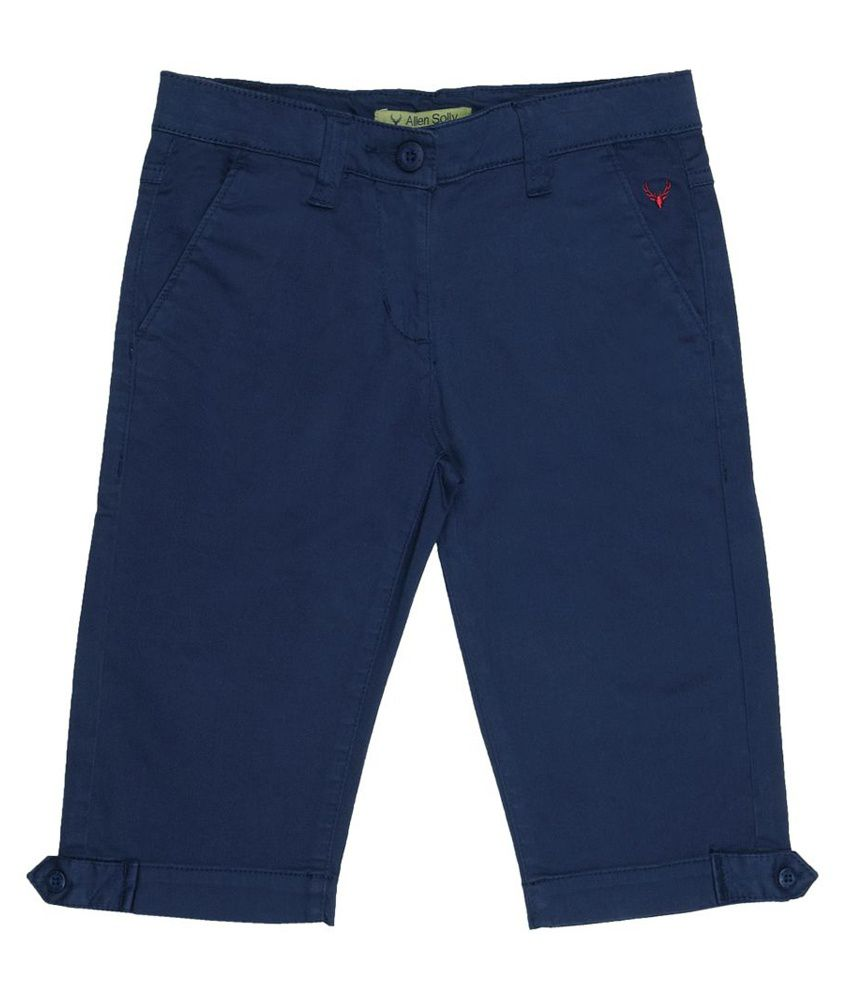 Allen Solly Navy Capris  For Girls