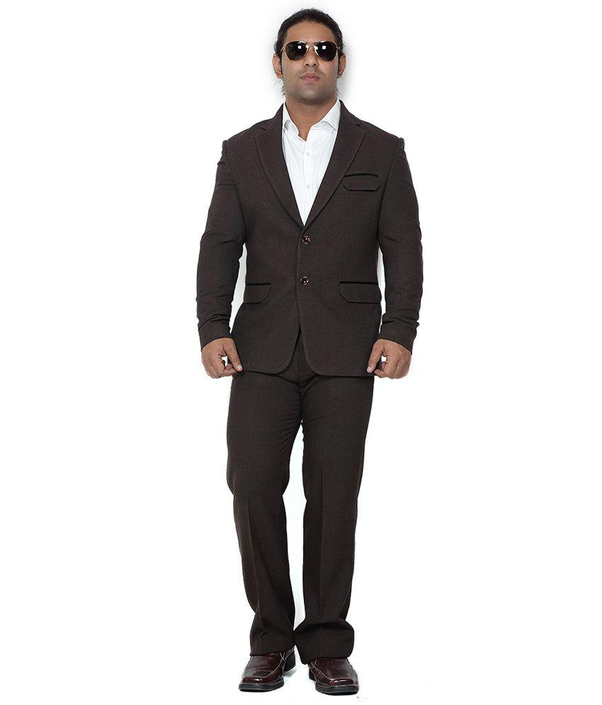 Brown Semi-Formal Designer Suit