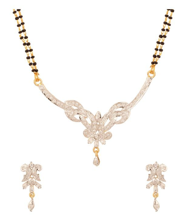 Voylla Mangalsutra Set With Huge Pendant Encrusted With CZ