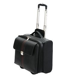 MBOSS Faux Leather Overnight Laptop Rolling Duffel Bag With Free Raincover