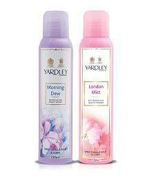 Yardley London Mist Body Spray Women 150 ml + Yardley Morning Dew Deodorant Spray Women 150 ml