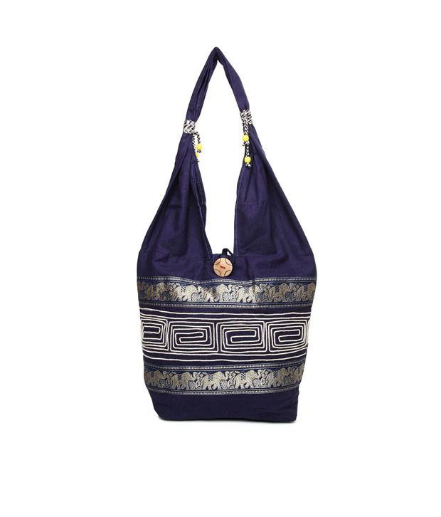 Kraftrush.com Navy Blue Shoulder Bag