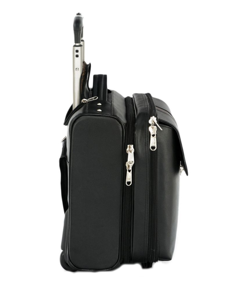 ... MBOSS Faux Leather Overnight Laptop Rolling Duffel Bag With Free  Raincover ... b735f14526734