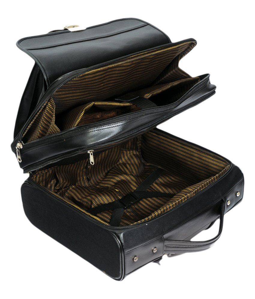 ... MBOSS Faux Leather Overnight Laptop Rolling Duffel Bag With Free  Raincover 031d811540b09