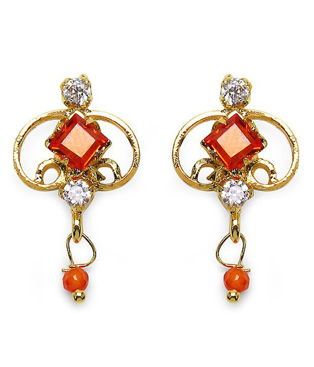 Johareez Multicolor Brass Earrings