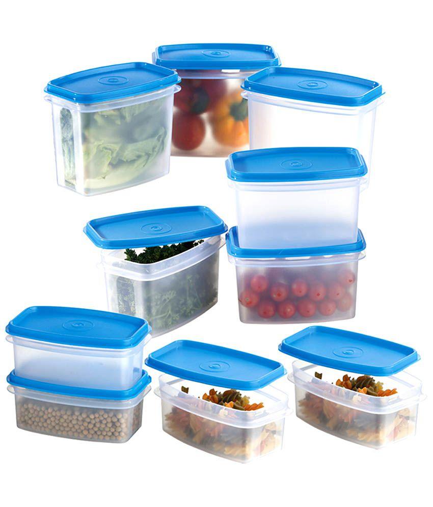 Prime Housewares Storewel Food Saver Set Of 10 Blue