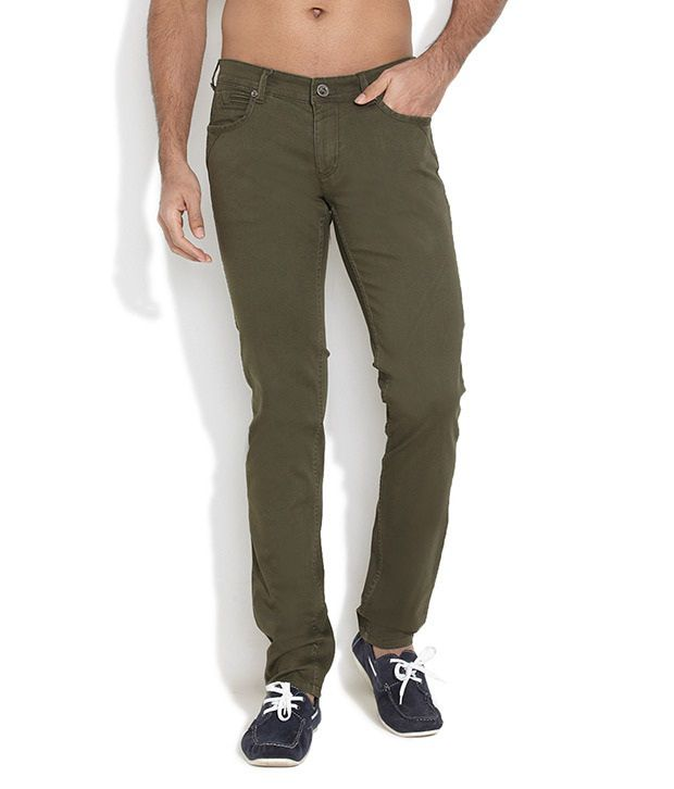 Canary London Green Slim Casuals