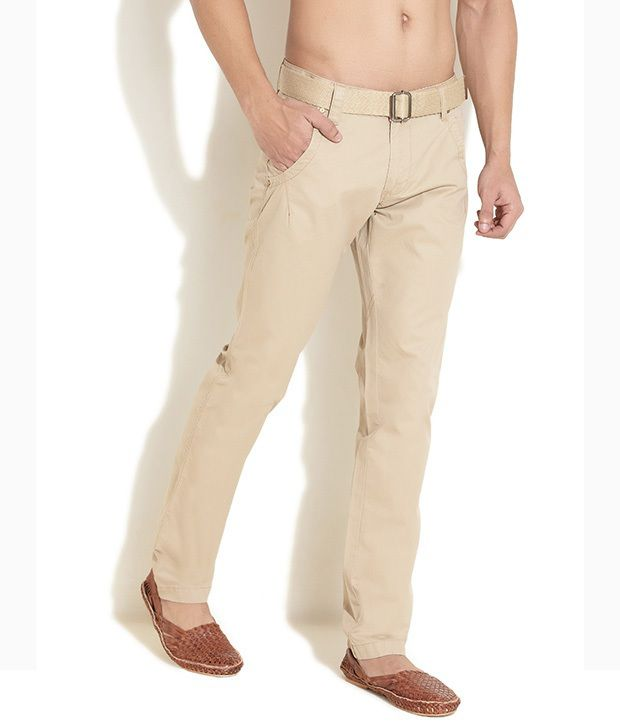 King And I Brown Cotton Lycra Trousers