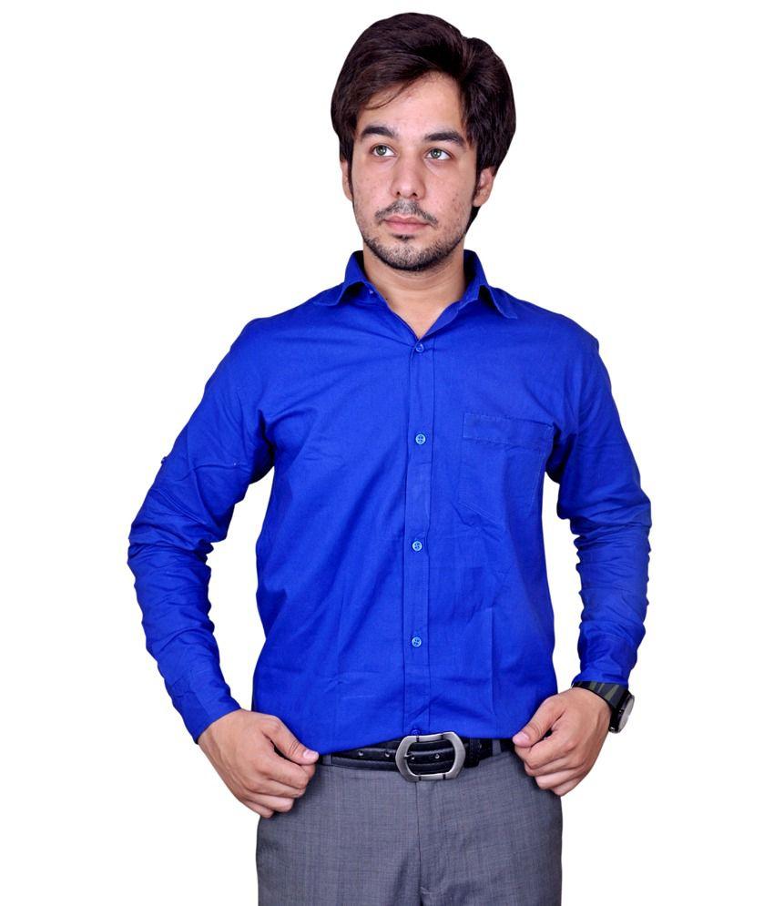 ac64c239 Mc-John Men's Casual With Formal Linen Blend Solid Royal Blue Shirt - Buy  Mc-John Men's Casual With Formal Linen Blend Solid Royal Blue Shirt Online  at Best ...