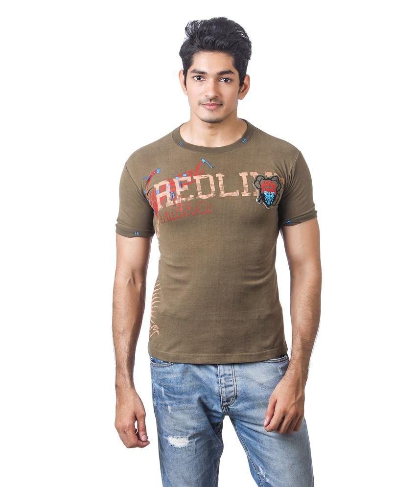 Kaporal Green Redline Printed T- Shirt