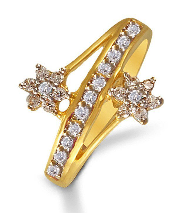 Colourful Gold Ring By P.N.Gadgil