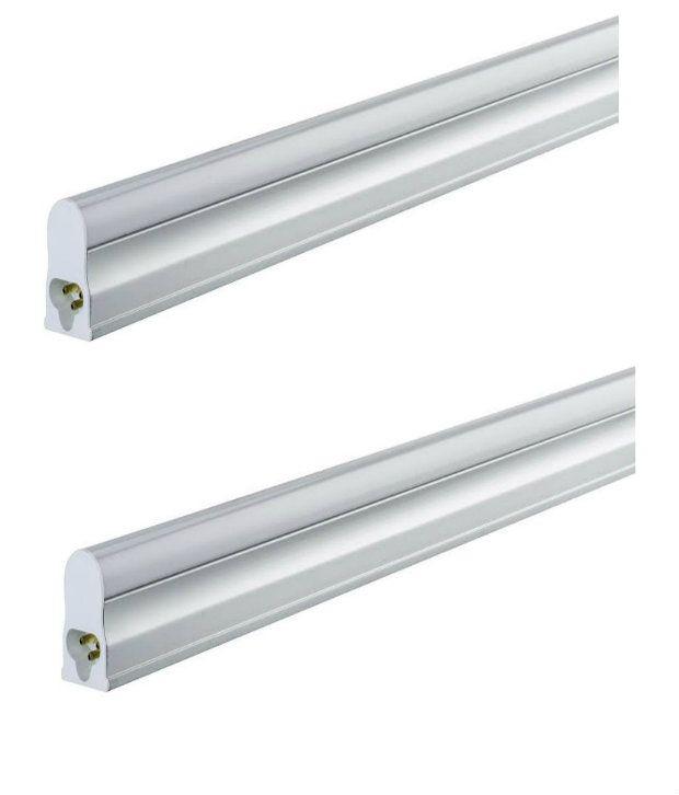 T5 Shop Lights Cost: Megaway LED Cool White Metal T5 18W Tube Lights: Buy