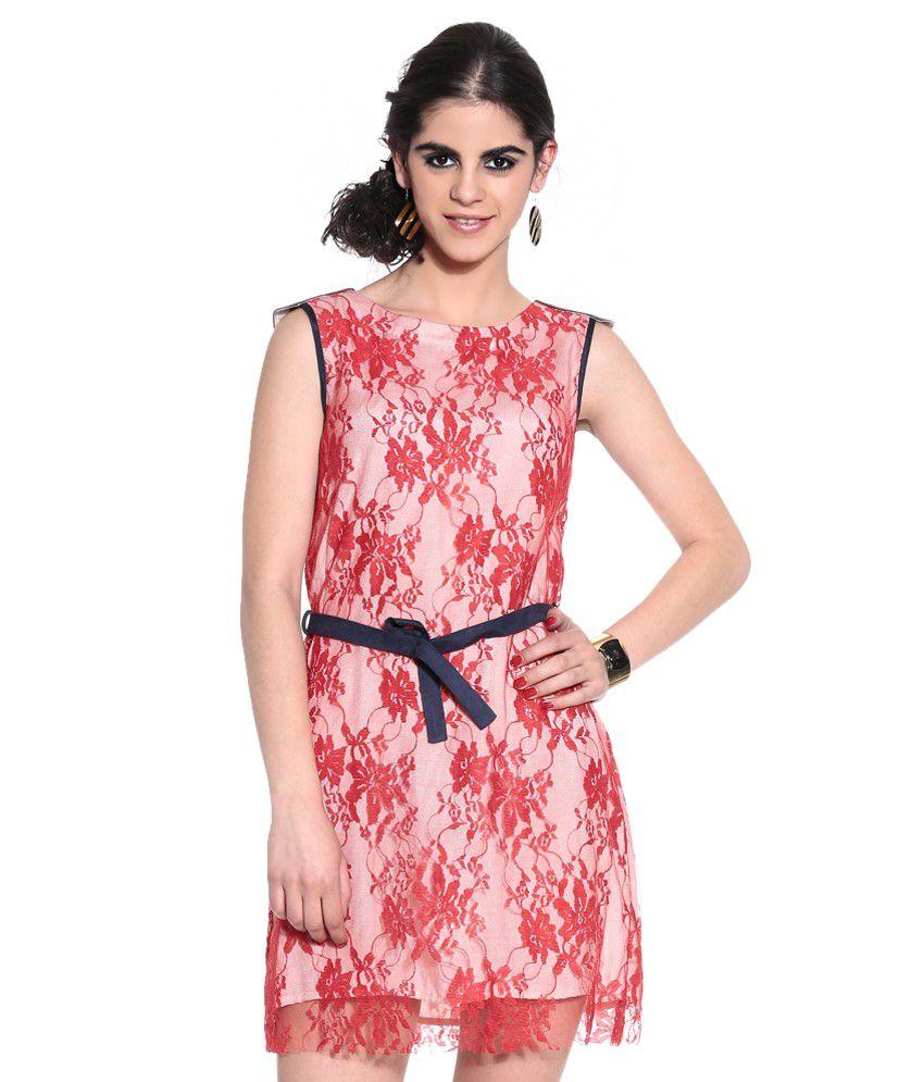 Shivani&Joy Red Lace Dresses
