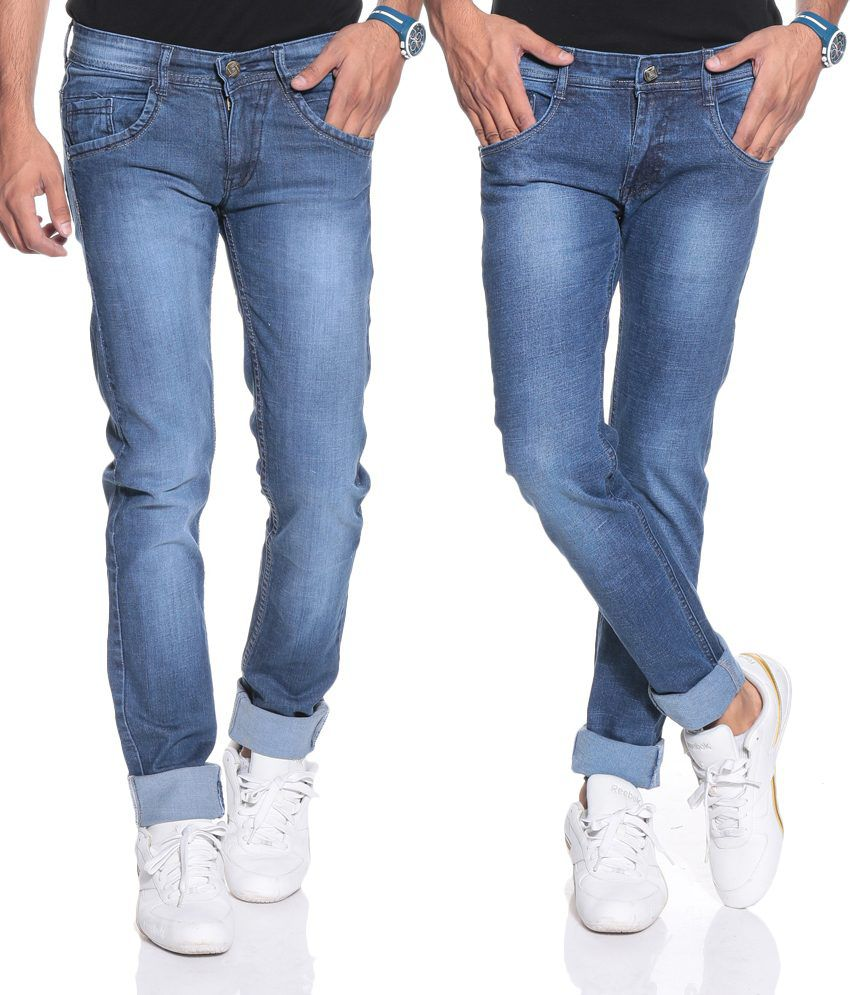 Coaster Blue Slim Jeans Combo Of 2 Jeans
