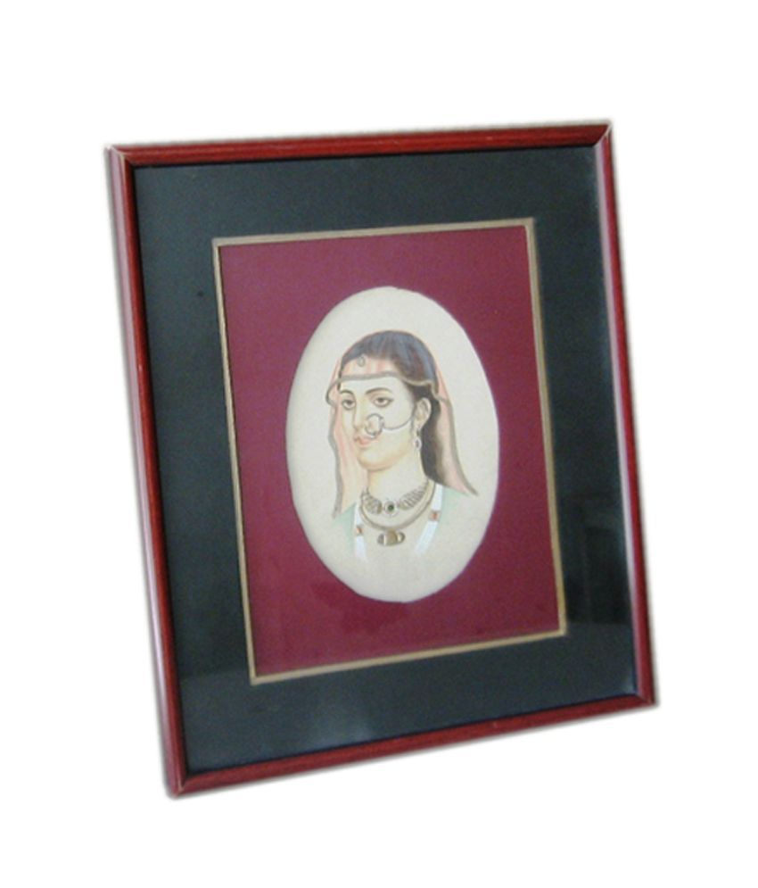 Icb Lady With Jewellery Painting On Paper