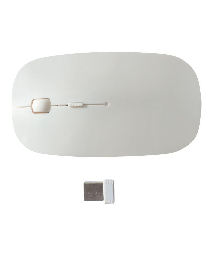 Speed Ultrathin Wireless 2.4 Mhz Mouse For Notebooks/laptops/desktops Pcs - White