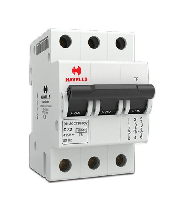 Buy Havells 40A Triple Pole MCB (Miniature Circuit Breaker) Online ...
