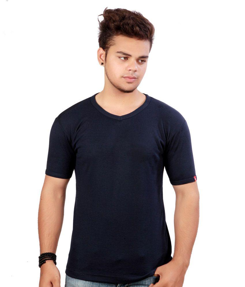 Emerge Plain Crew Neck Navy T-shirt