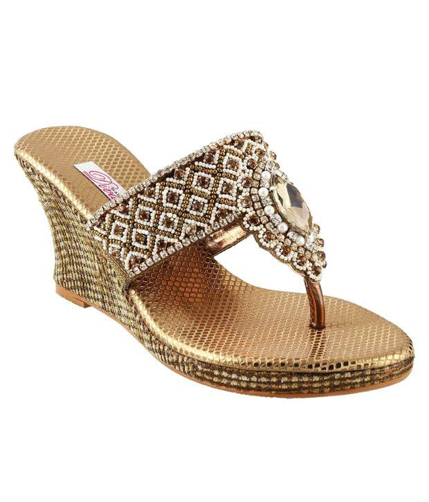 Mochi Gold Heeled Slip-On