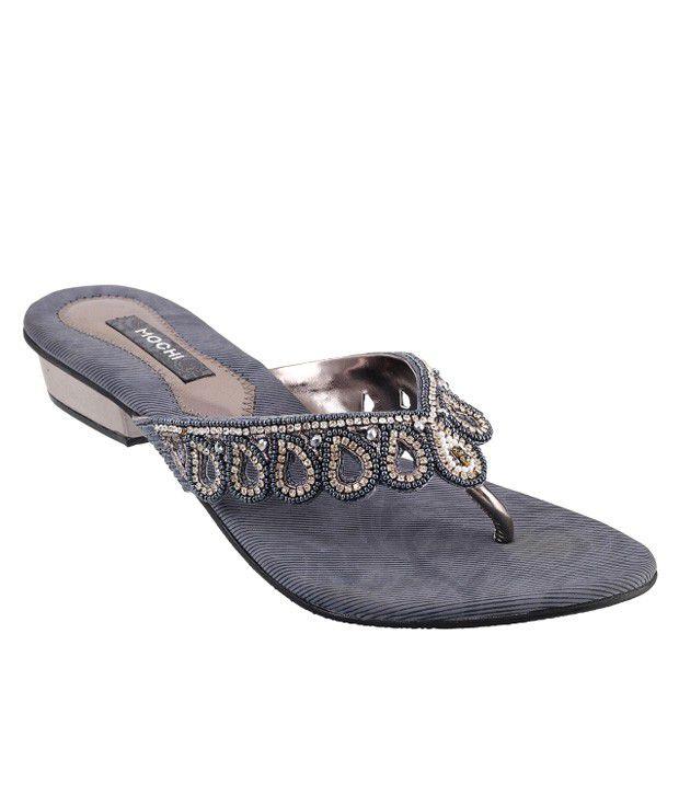 Mochi Gray Heeled Slip-On