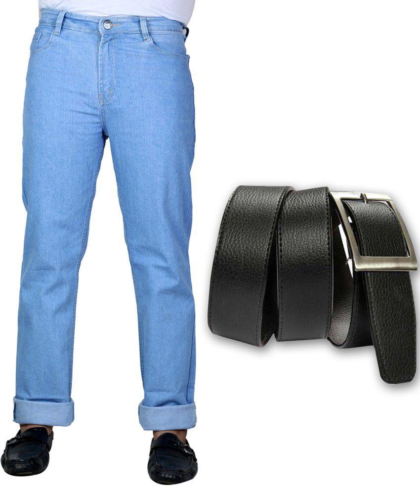 Sam & Jazz Blue Men's Jeans With Dynamic Belt