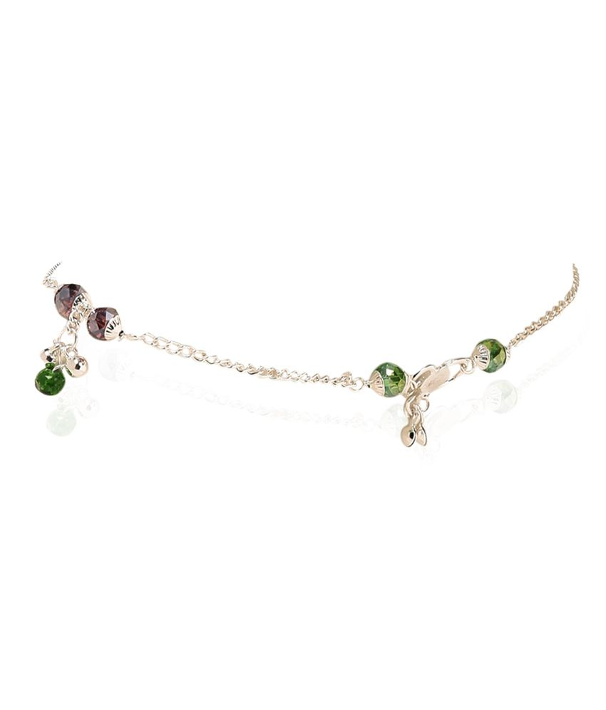 Jewels of India Vibrant String Anklets