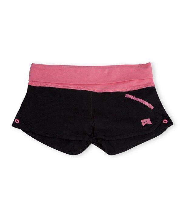 Nike Action Black Color Knit Short For Girls