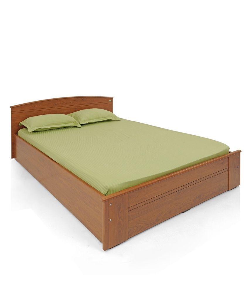 zuari bed queen with box storage and natural finish optima buy