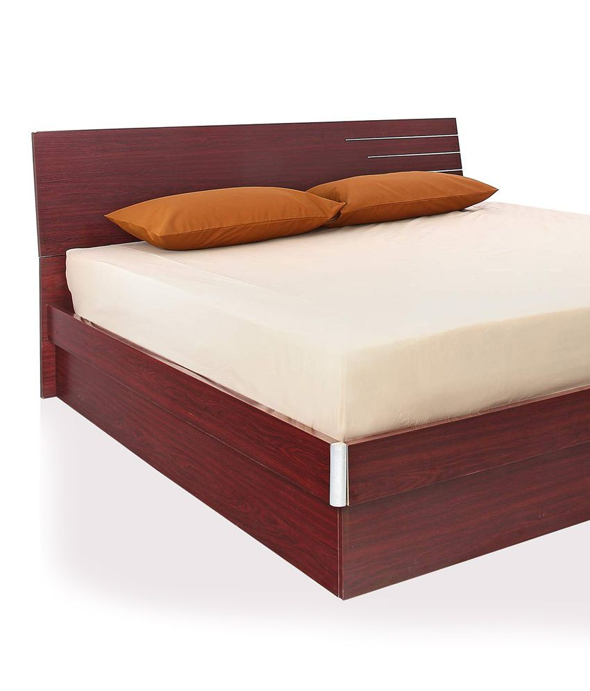 indian bedroom furniture catalogue%0A     Royaloak Barcelona King Bed With Hydraulic Storage Honey Brown Finish