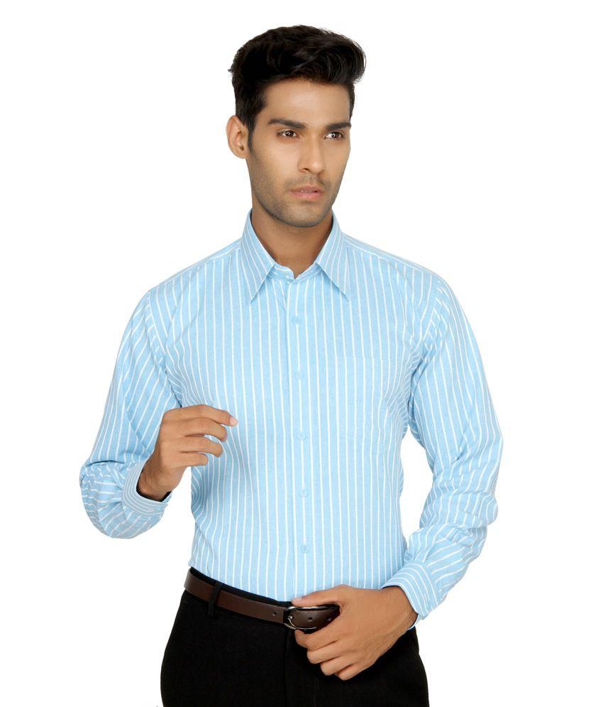 Devaa Blue Wrinkle Free Shirt