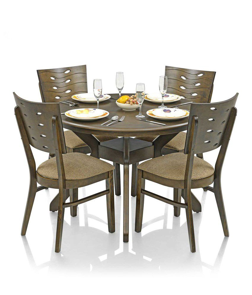 Royaloak Sydney Dining Set With 4 Chairs Solid Wood