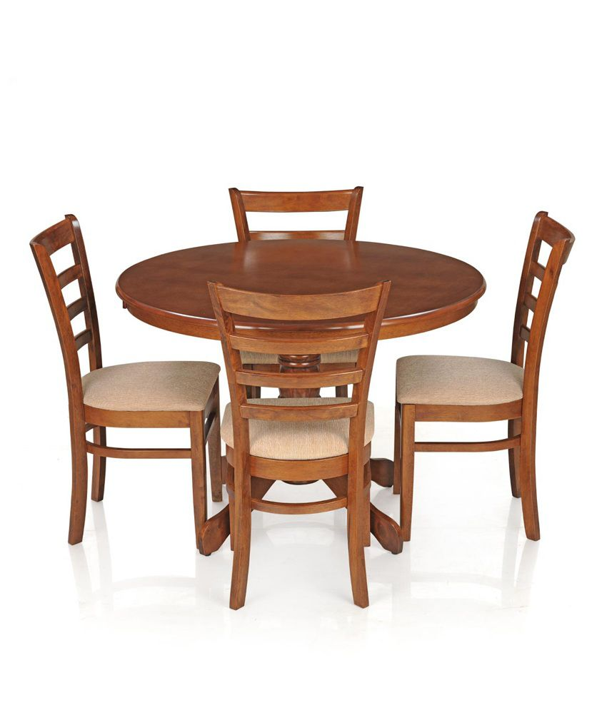 Royaloak Dining Table Set With 4 Chairs Solid Wood Natural Buy