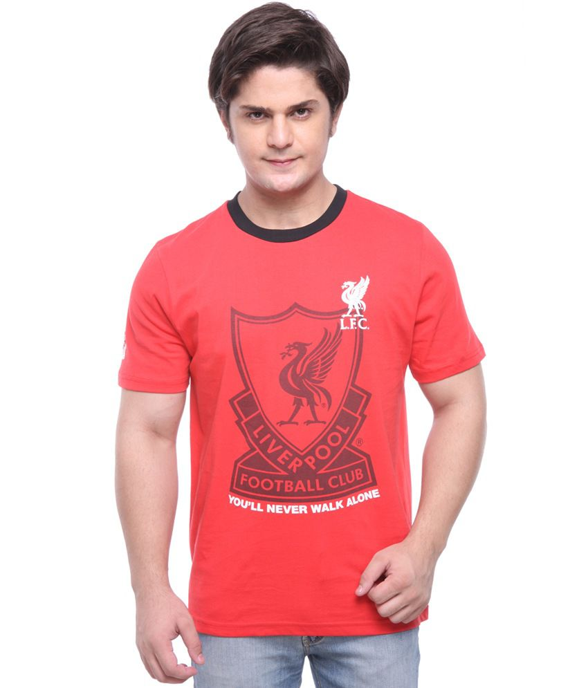 LiverPool Mens Casual T-Shirt Red