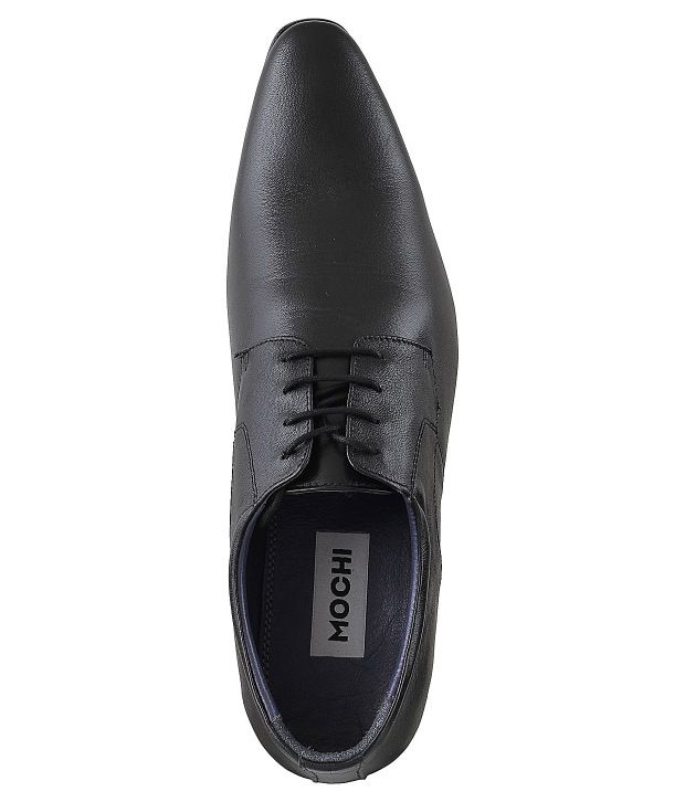 Mochi Black Formal Shoes Price in India