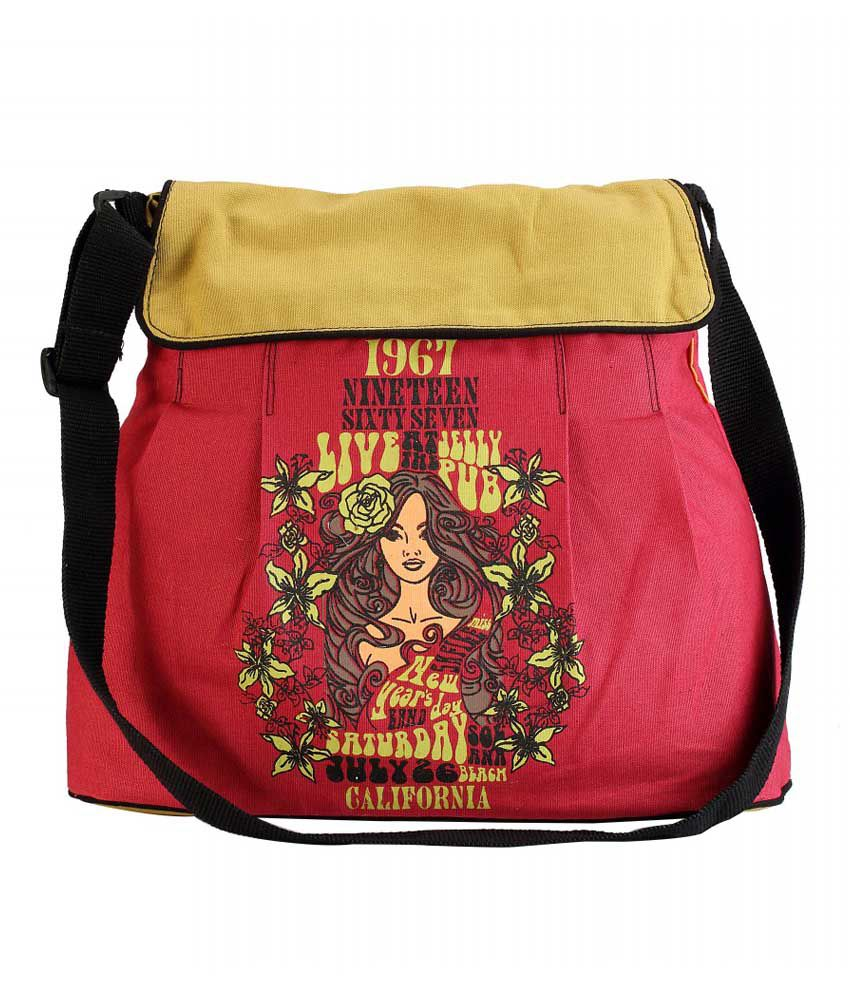 The Jute Shop Pink Bright And Bold Women Hand Bag