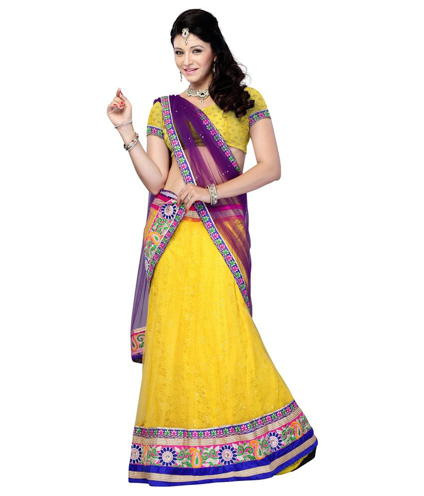 Diva Fashion Wedding Wear Designer Lehenga Choli Yellow Buy Diva Fashion Wedding Wear Designer