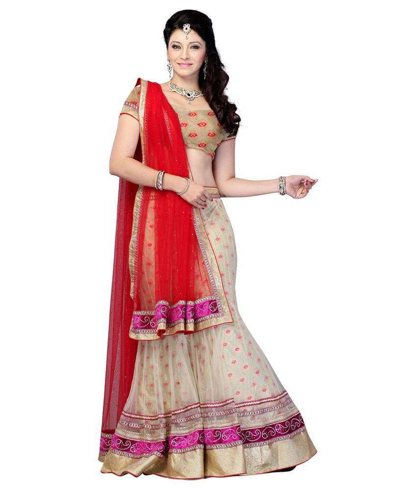 d2484dd7ba ... Designer Lehenga Choli Red and Beige - Buy Diva Fashion Wedding Wear  Designer Lehenga Choli Red and Beige Online at Best Prices in India on  Snapdeal