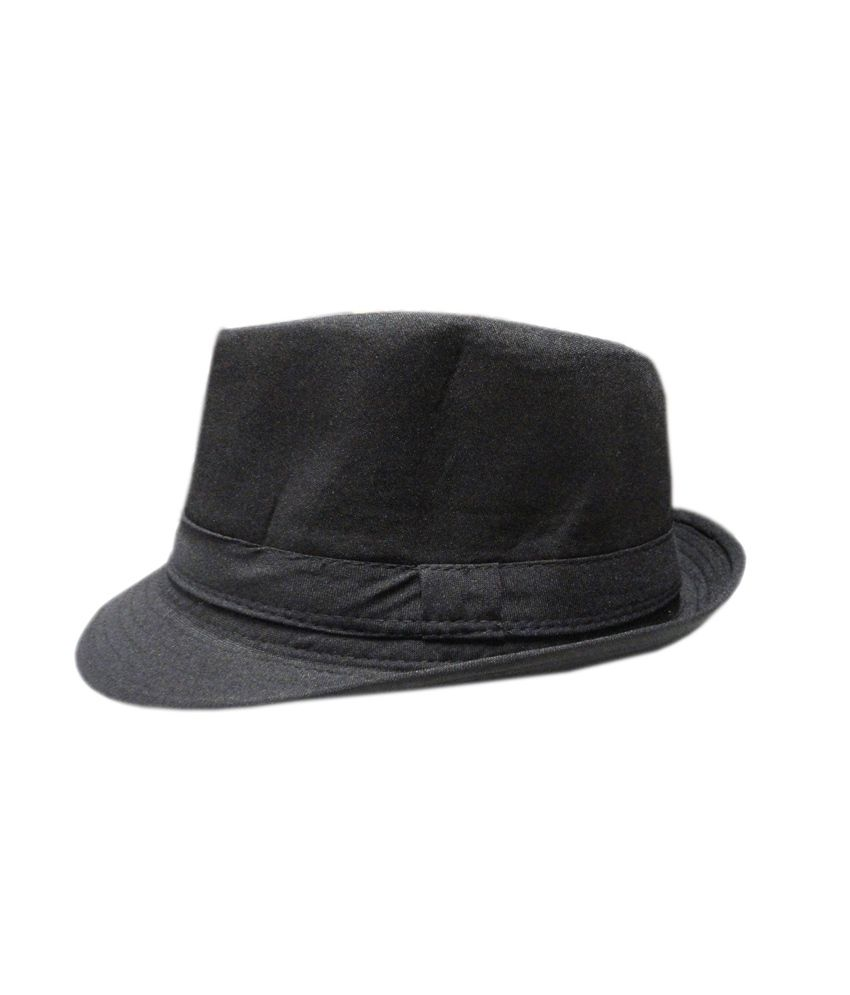 Innovation The Store Black Single Polyester Fidora Hat For Men