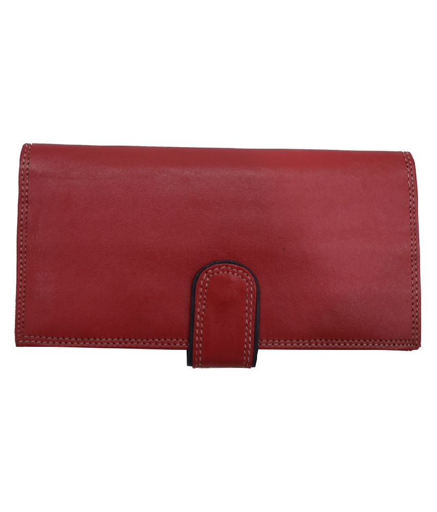 Mex Red Leather Casual Regular Wallet