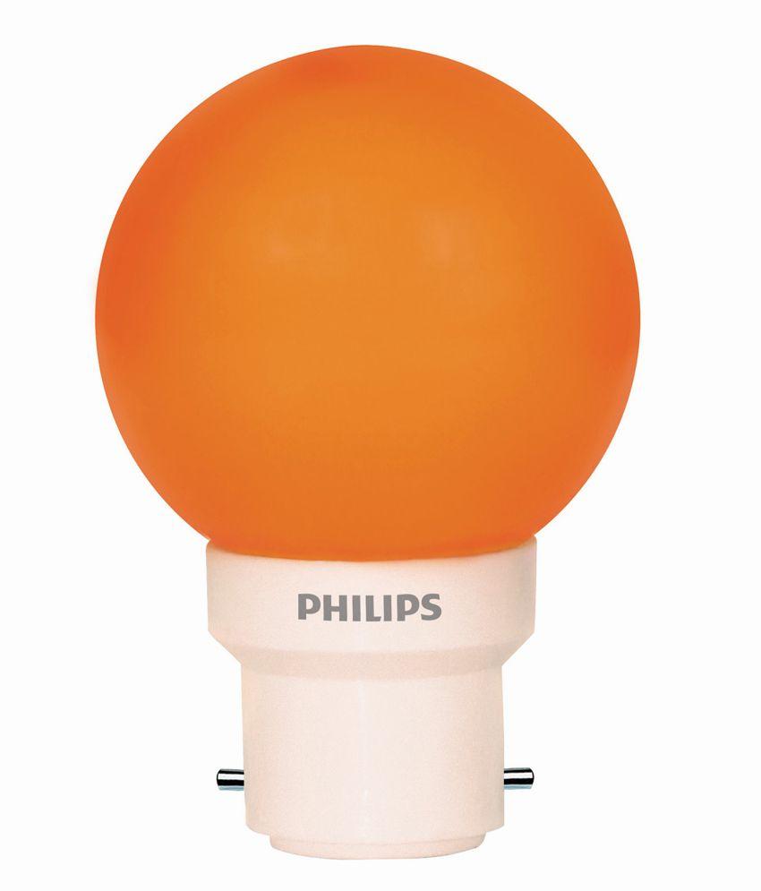 Philips Orange 0.5 Watt Led Light Bulb (6 Piece): Buy ...