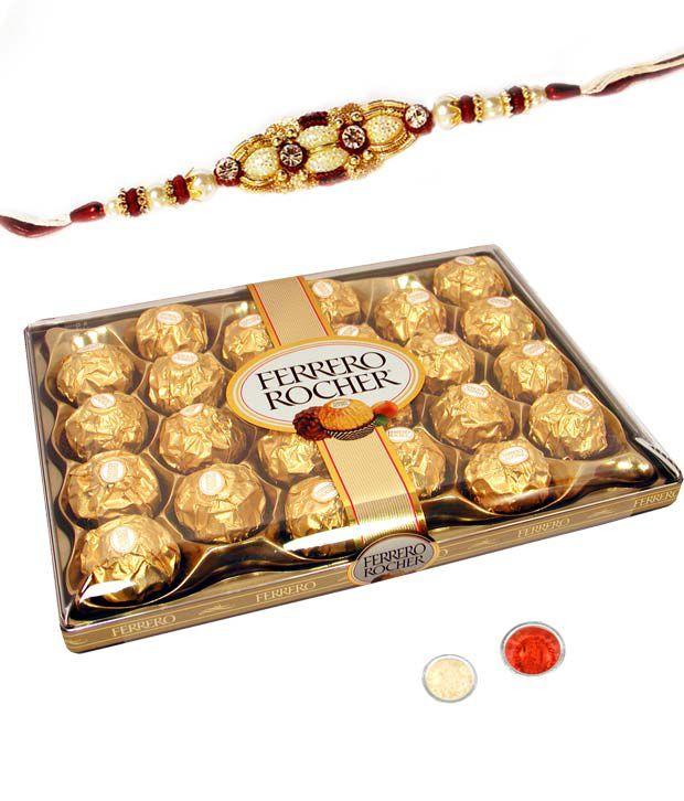 Right Florist Premium Rakhi With 24pcs Ferrero Rocher _rf_sdr_432