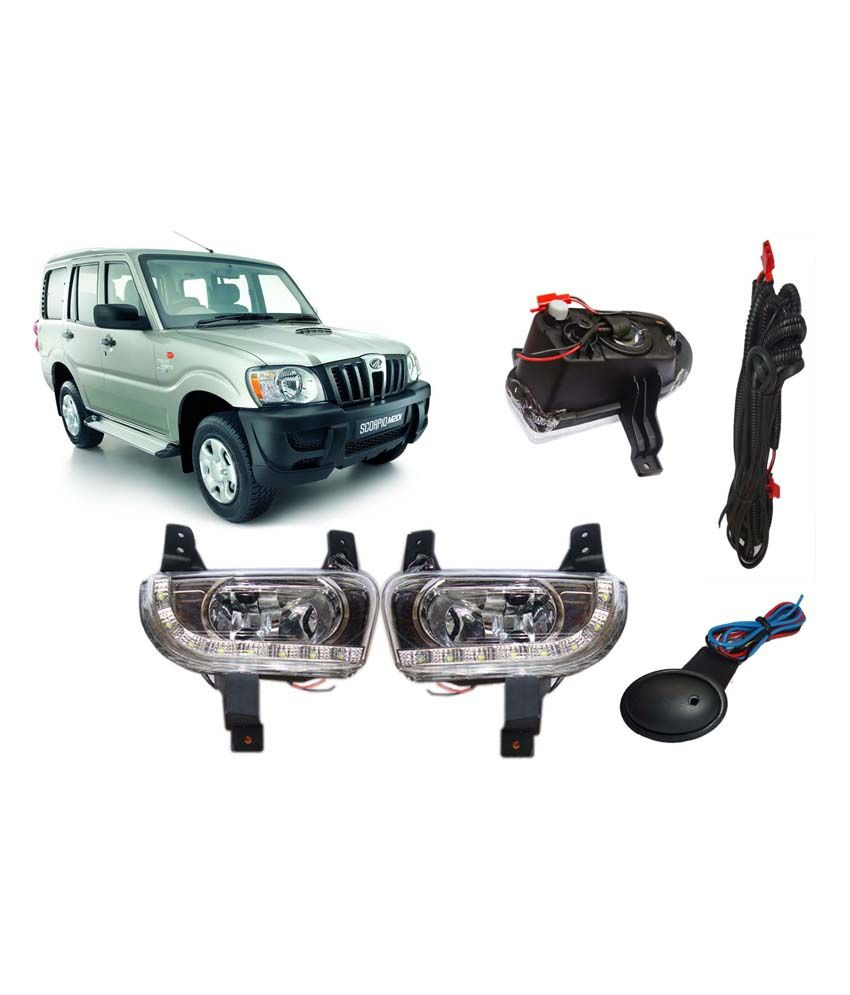 Terrific Auto Pearl Led Daytime Running Light Drl For Mahindra Scorpio With Wiring Cloud Mangdienstapotheekhoekschewaardnl
