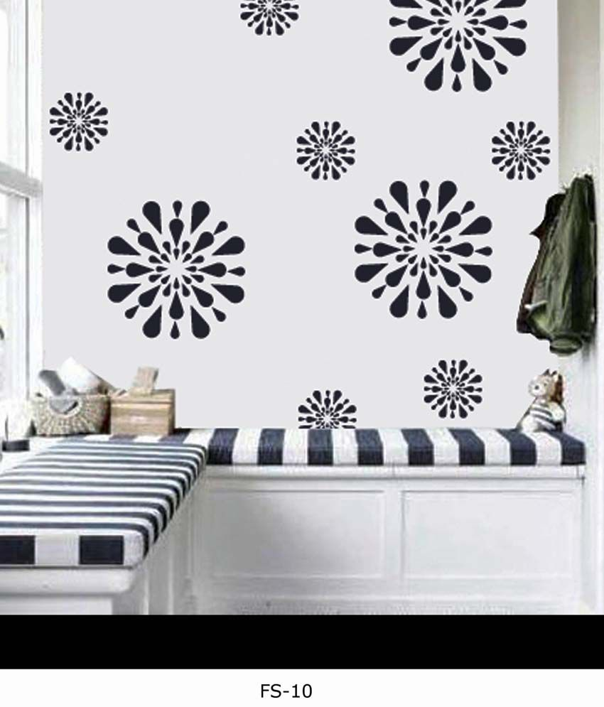 Decorze Flower Stencils For Wall Painting