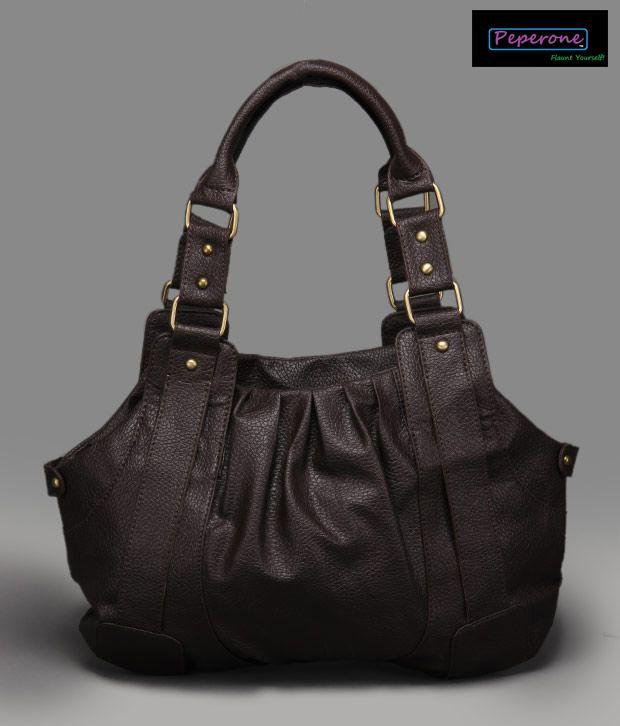 Peperone Smart Chocolate Brown Handbag