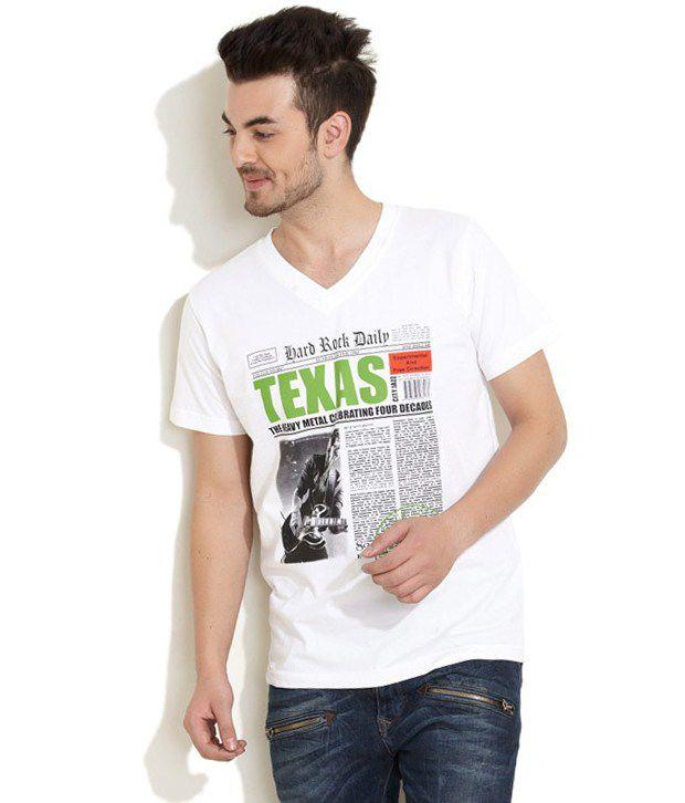 Riot White Cotton T-shirt