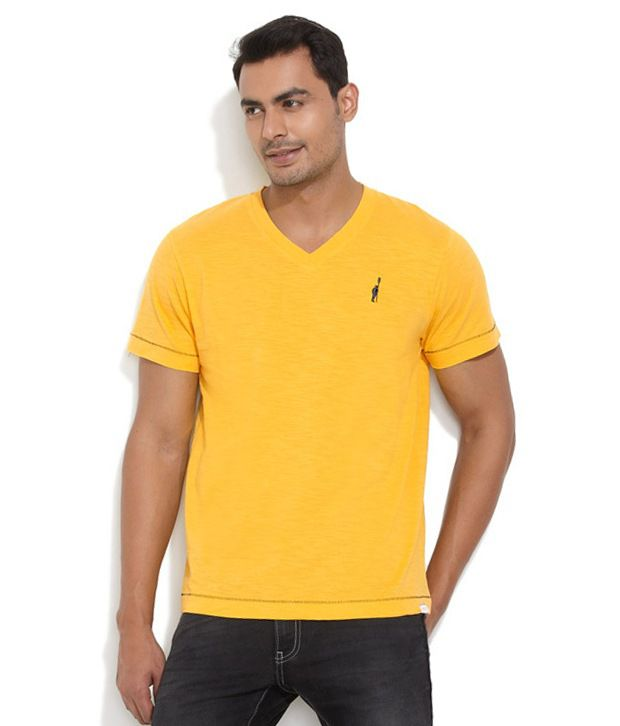 Smokestack Yellow Cotton T-shirt