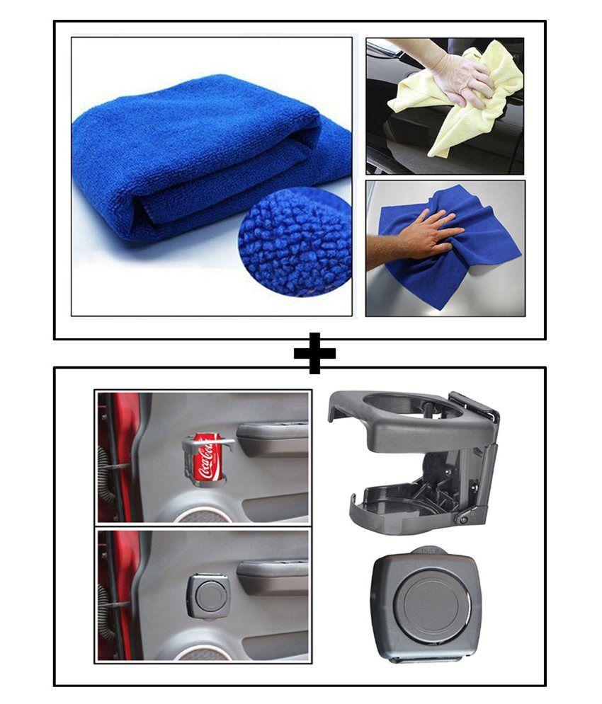 vheelocityin multi purpose microfiber dry wet cleaning polishing cloth foldable car drink. Black Bedroom Furniture Sets. Home Design Ideas